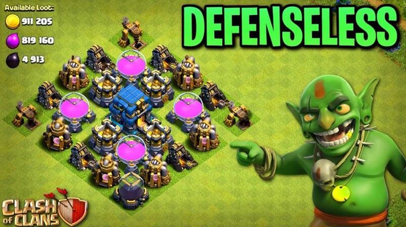 Defense clash of clan