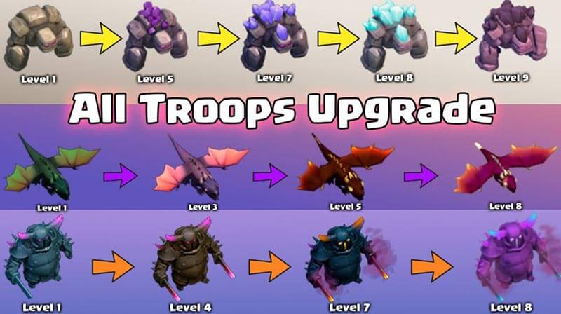 Troops clash of clan